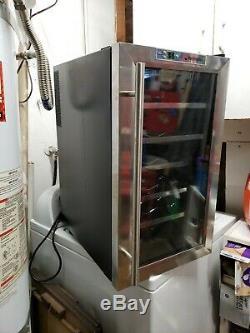 Wine Enthusiast 272 17 71 Silent 18 Bottle Wine Cooler with single glass door