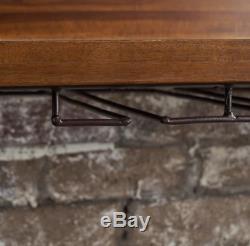 Wine Rack Storage Cabinet Wooden Display Home Bar Glass Holder Iron 6 Bottles