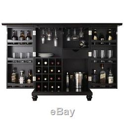 Wine Storage Cabinet Bar Rack Liquor Pub Wood Glass Bottle Wooden Home Furniture
