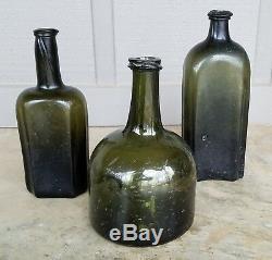 XX 1760-80 English Black Glass Sided Utility Bottle XX