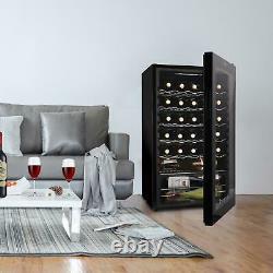 Zokop 34 Bottles Red White Wine Cooler Fridge Compressor Digital 41-64 Glass